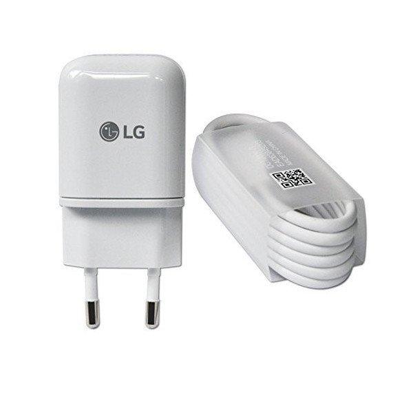 ORYGINALNA ŁADOWARKA SIECIOWA FAST CHARGE LG MCS H05EDR 1.8A + oryginalny kabel usb LG TYP C do LG G5 G6 Nexus 5X V30