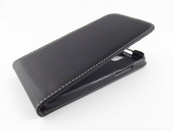 ETUI SLIM FLEXI FUTERAŁ KABURA - HTC E8 (czarne)