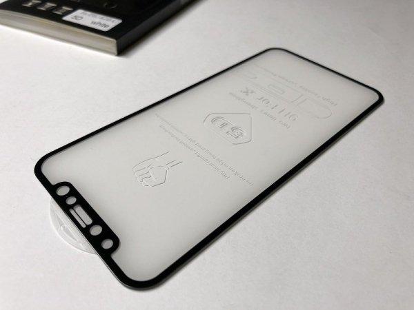 HardGlass MAX 5D - Szkło Hartowane na cały ekran do Apple iPhone X XS / 10 kolor czarny