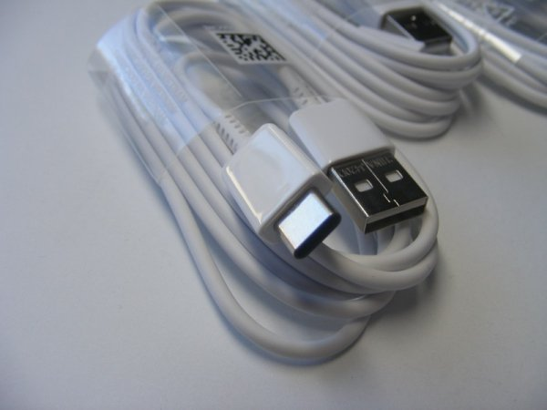 Oryginalny Kabel Samsung Fast Charge EP-DW700CWE USB C typ C 150cm Galaxy S8 S8+ biały