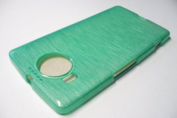 Metalic Jelly Cover Brushed - etui silikonowe do Lumia 950 XL (zielony)
