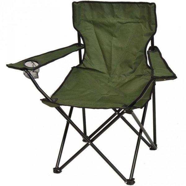 Krzesło turystyczne składane 50x50x80cm zielone 1020273
