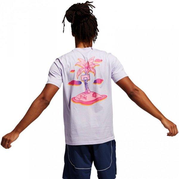Koszulka męska adidas Splash On Graphic fioletowa GS7199