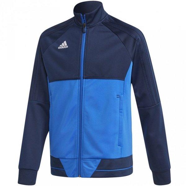 Bluza dla dzieci adidas Tiro 17 Polyester Jacket JUNIOR granatowo-niebieska BQ2610