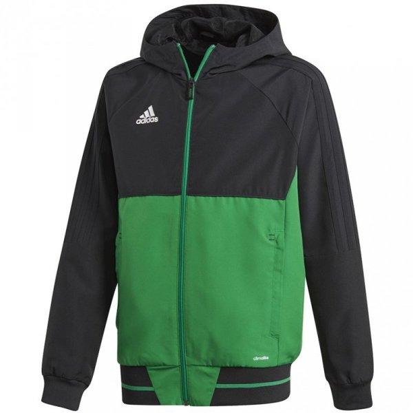 Bluza dla dzieci adidas Tiro 17 Presentation Jacket JUNIOR czarno-zielona BQ2788