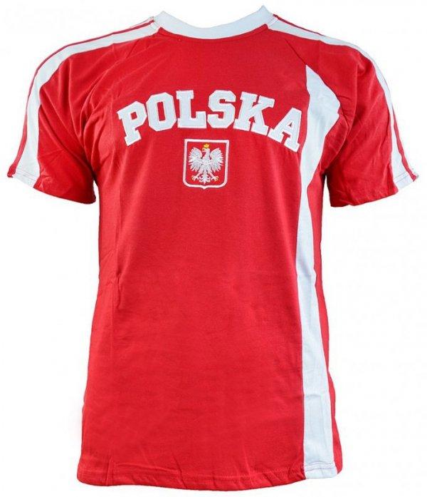 Koszulka męska Replika Polska czerwono biała