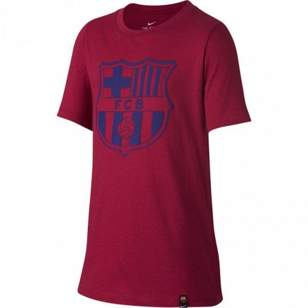 Koszulka dla dzieci Nike FC Barcelona Crest JUNIOR bordowa 859192 620