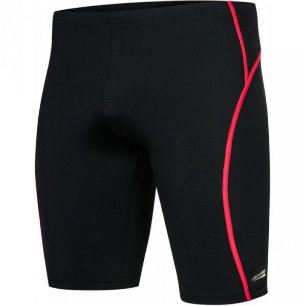Spodenki kąpielowe męskie Aqua-Speed Blake czarno-czerwone 16 381
