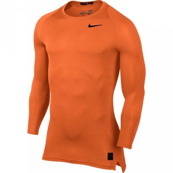 Koszulka męska Nike Pro Cool Compression LS Top pomarańczowa 703088 815