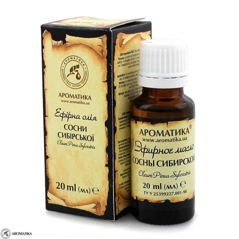 Olejek z Sosny Syberyjskiej, 100% Naturalny, Aromatika, 20ml