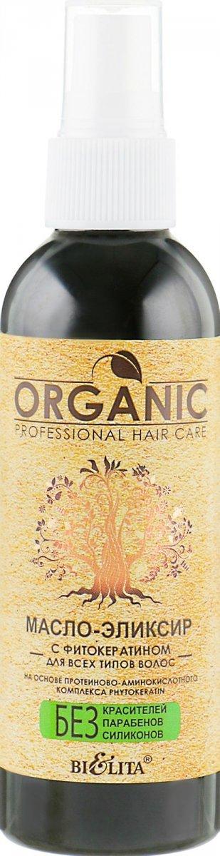 Olejek Eliksir do Włosów z Fitokeratyną, Organic Hair Care  100ml.
