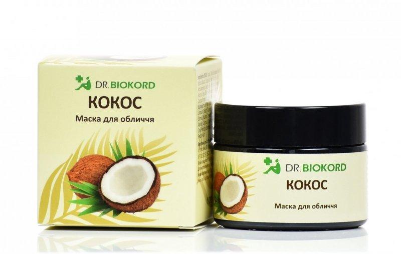 Rozjaśniająco-odmładzająca Maseczka do Twarzy Kokosowa, Dr.Biokord