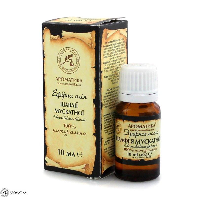 Olejek z Szałwii Muszkatołowej, 100% Naturalny, Aromatika, 10ml