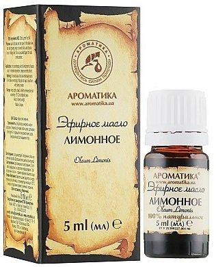 Olejek Cytrynowy, 100% Naturalny, Aromatika, 5ml