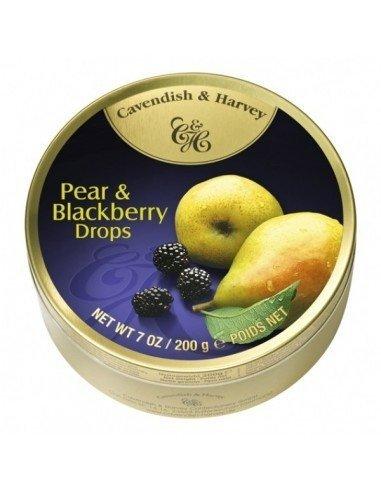 Landrynki Cavendish & Harvey Pear Blackberry Drops o smaku gruszki i jeżyny 200g