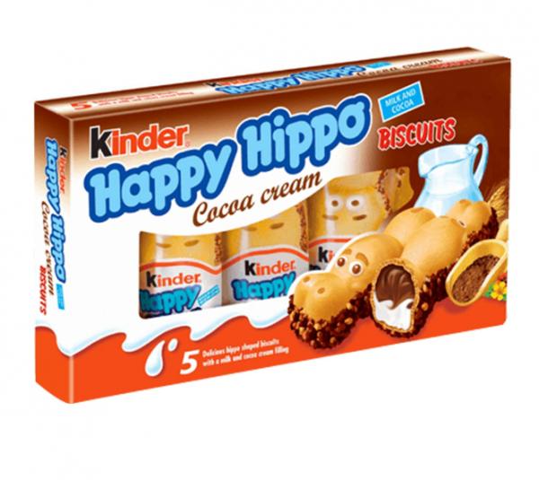 Batoniki kinder happy hippo krem kakowy 103g