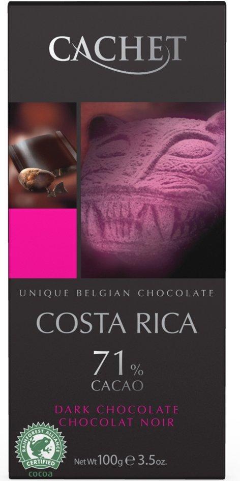 Cachet Belgijska Czekolada Costa Rica 71% Cacao 100g
