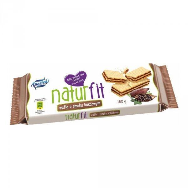 Naturfit wafle o smaku kakaowym bez cukru 180g
