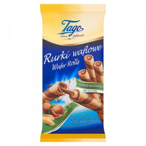 Tago Rurki waflowe z kremem orzechowym 150 g