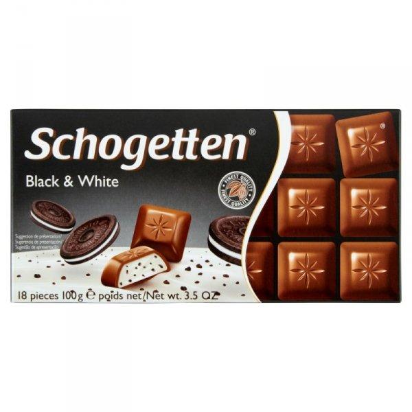 Schogetten Czekolada mleczna z nadzieniem waniliowym i kawałkami ciasteczek kakaowych 100 g