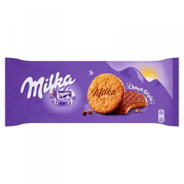 Milka Choco Grain Ciastka z płatkami owsianymi oblane czekoladą 126 g