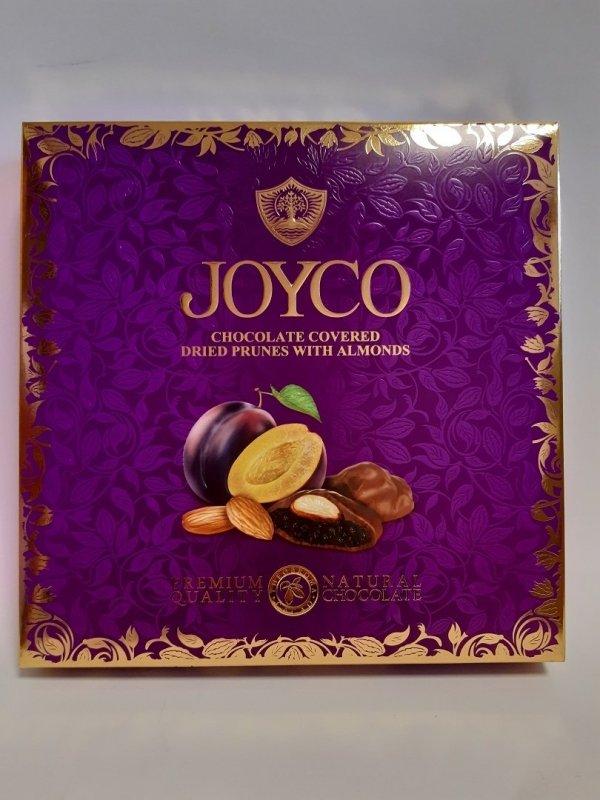 Joyco suszone śliwki w czekoladzie z migdałami 155g 9szt
