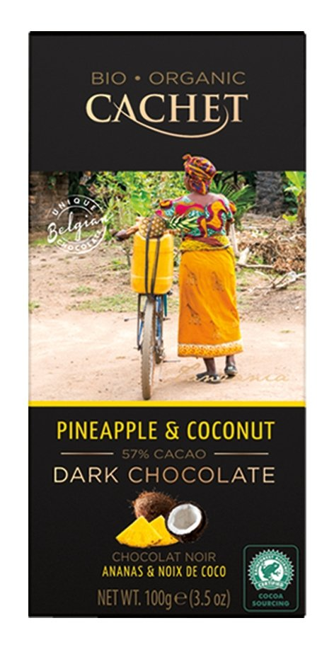 Cachet Belgijska Czekolada Organiczna ananas i kokos 100g