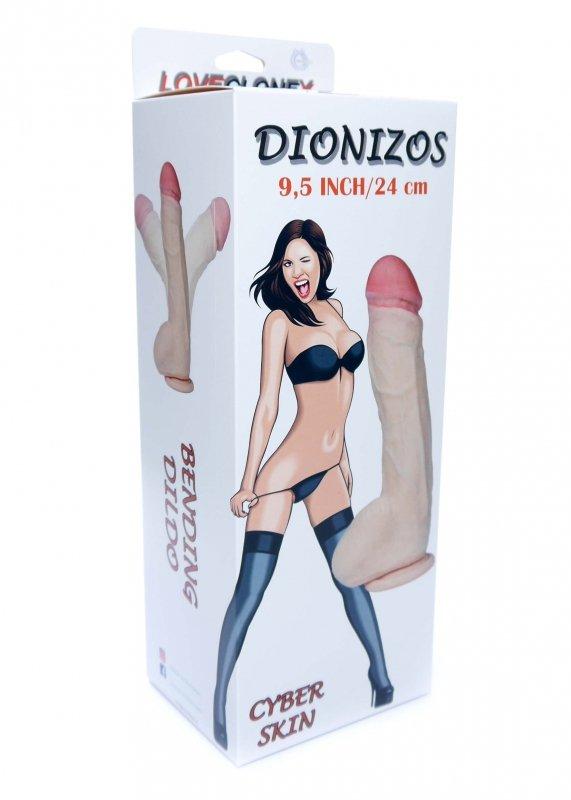 "Dildo-DIONIZOS-LOVECLONEX 9,5""""""""-flexible"