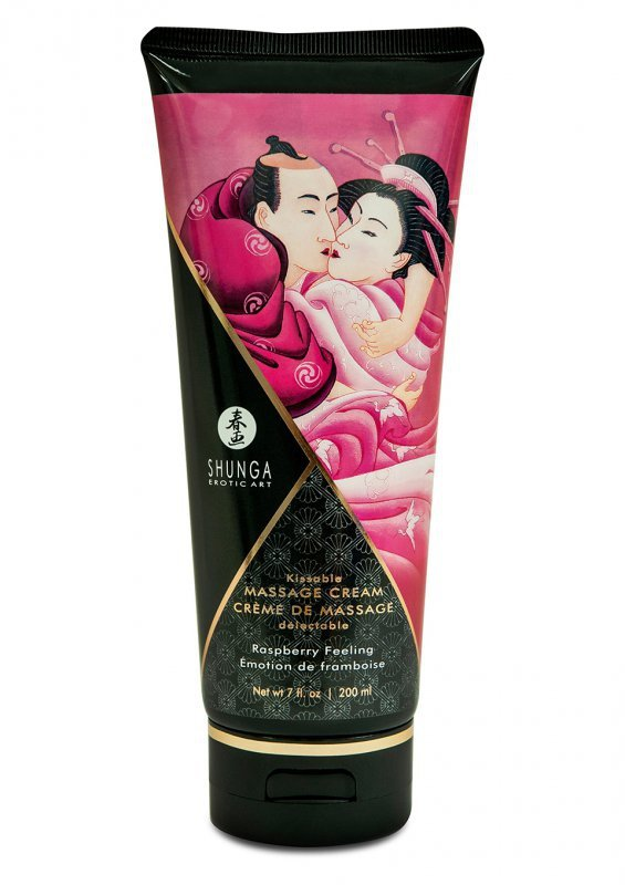 Świeca/krem-MASSAGE CREAM RASPBERRY 20O ML