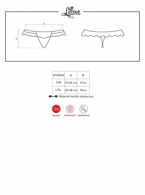 Bielizna-Lillove stringi L/XL
