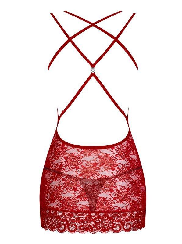 860-CHE-3 koszulka i stringi czerwona  S/M