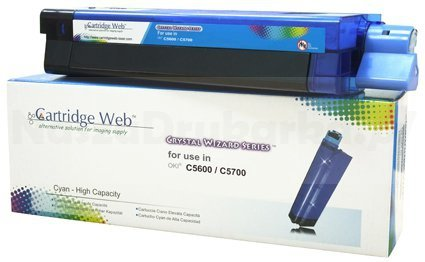 Toner Cartridge Web Cyan OKI C5600 zamiennik 43381907