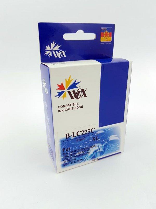 Tusz Wox Cyan Brother LC 225C zamiennik LC225XLC (1300 stron A4 zgodnie z normą ISO/IEC 24711)