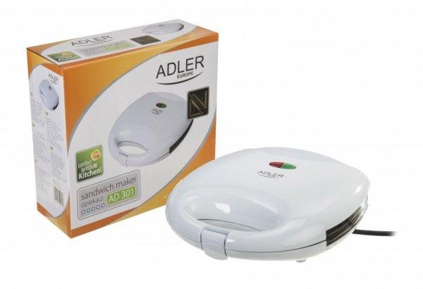 Opiekacz do kanapek Adler AD 301 (700W; kolor biały)