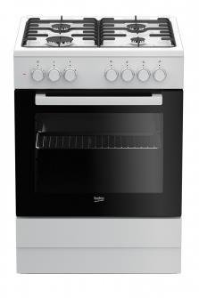 Kuchnia Beko FSE62120DW (Płyta gazowa; Piekarnik elektryczny; 600mm)
