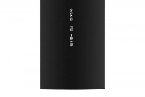 Okap przyścienny, tuba CIARKO ORP Czarny (390mm; kolor czarny)