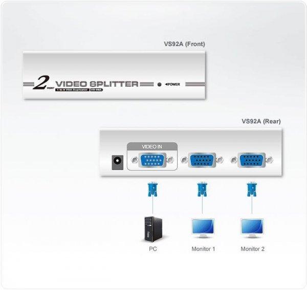 Video splitter ATEN VS-92A