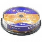 Płyta DVD-R VERBATIM CAKE(10) 4.7GB x16 Matt Silver 43523