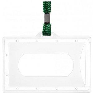 Identyfikator Holder z taśmą zieloną 601285 ARGO