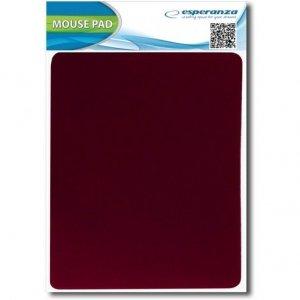 Podkładka pod mysz czerwona materiałowa ESPERANZA EA145R