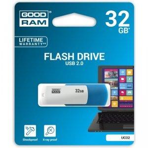 Pamięć USB GOODRAM 32GB UCO2 miks kolorów USB 2.0 UCO2-0320MXR11