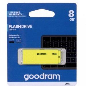 Pamięć USB GOODRAM 8GB UME2 żółty USB 2.0 UME2-0080Y0R11