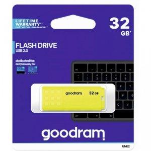 Pamięć USB GOODRAM 32GB UME2 żółty USB 2.0 UME2-0320Y0R11