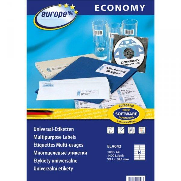 Etykiety ZF ECONOMY A4 99.1x38 1mm białe ELA042 AVERY ZWECKFORM