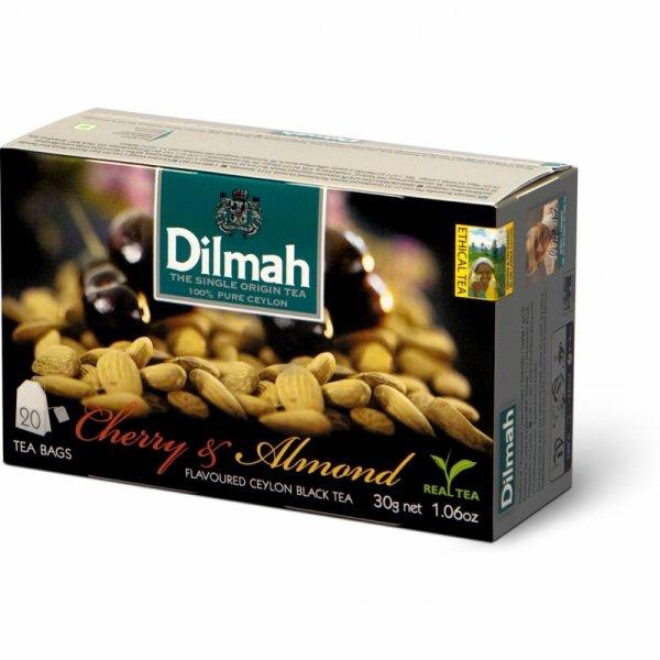 Herbata DILMAH (20 torebek) czarna z aromatem WIŚNIA & MIGDAŁ