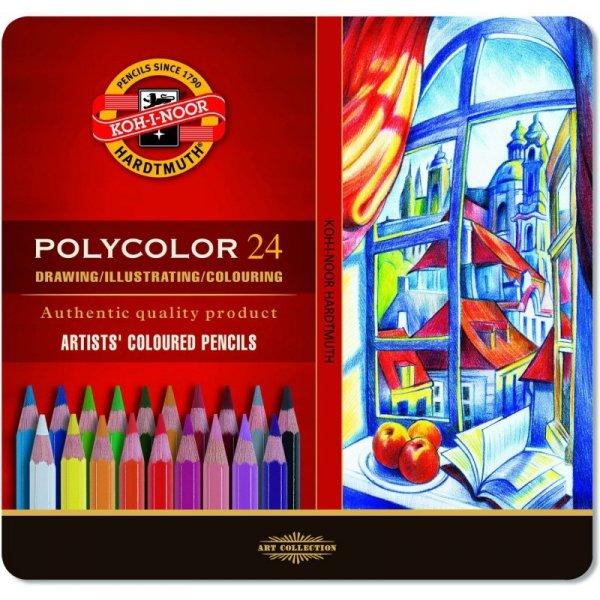 Kredki POLYCOLOR 24k 3824 op.metal KOH-I-NOOR
