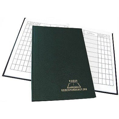 Księga korespondencyjna 192k zielona 229-013 WARTA