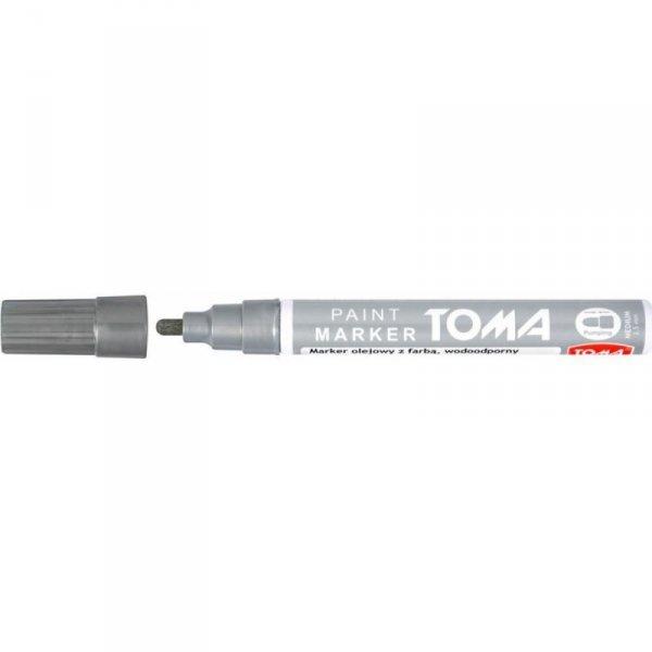 Marker olejowy TO-440 grubość 2.5mm srebrny TOMA
