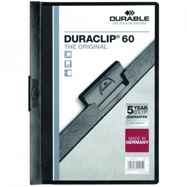 Skoroszyt zaciskowy A4 1-60k czarny DURACLIP Original 220901 DURABLE