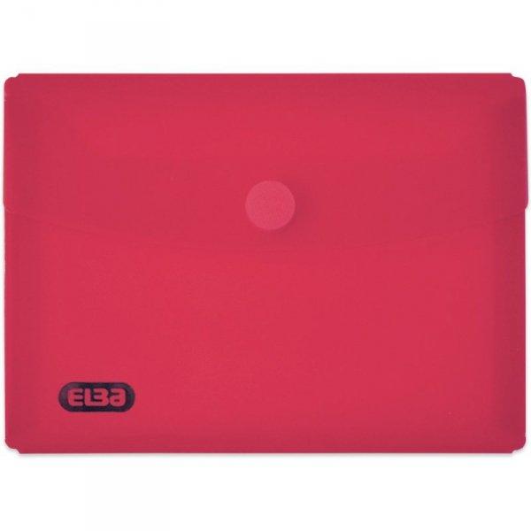 Teczki kopertowe na rzep DL kolorowe przezroczyste 6szt ELBA 400099591